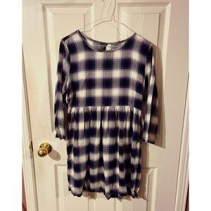 🛍2/$25🛍~ Plaid 3/4 Sleeve Babydoll Dress